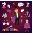 Magician set vector image