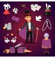 Magician set vector image vector image
