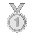 Medal for first place icon black monochrome style vector image vector image