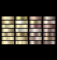 metallic gold silver bronze colorful vector image vector image