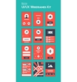 Mobile UI and UX Wireframes Kit vector image vector image