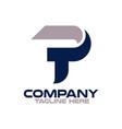 modern letters tp or pt logo vector image