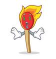 money eye match stick mascot cartoon vector image vector image