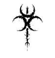 moon trio symbol background vector image