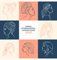 pastel international women s day vector image