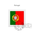 Portugal Flag Postage Stamp vector image