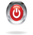 power red icon vector image vector image