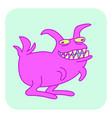 predatory toothy rabbit vector image vector image