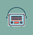 retro home electronics radio in vintage style vector image vector image