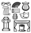 set of classic theater isolated icons vector image vector image