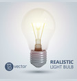 shining light bulb background vector image vector image