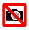 Sign prohibiting use of camera vector image vector image