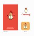 snowman company logo app icon and splash page vector image vector image