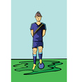 Soccer Football Player Blue Sportswear vector image vector image