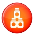 Sport nutrition containers icon flat style vector image vector image