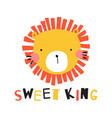 sweet king vector image vector image