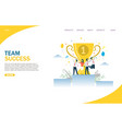 team success website landing page design vector image vector image