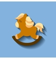 tender cute horse wooden card icon vector image vector image