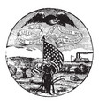 the official seal of the us state of iowa in 1889 vector image vector image