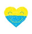 Ukraine heart vector image vector image