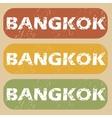 Vintage Bangkok stamp set vector image vector image