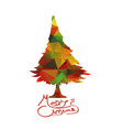 We Wish You a Merry Christmas with geometrical vector image