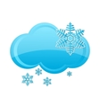 weather snow cloud symbol blue color vector image vector image