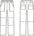 Work pants Front and back vector image vector image