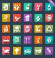 Ecology icon set - flat design vector image
