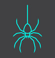 spider line icon halloween and scary danger vector image