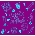 Doodle of school education on purple backgrounds vector image