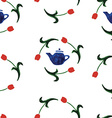 watercolor seamless pattern tulip vector image