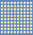 100 water recreation icons set cartoon vector image vector image