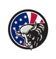 american buffalo usa flag icon vector image vector image