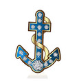 anchor vessel isolated symbol vector image vector image