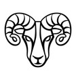 aries zodiac sign black horoscope symbol vector image vector image