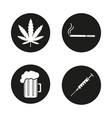bad habits icons set vector image vector image