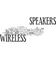 be free with wireless speakers text word cloud vector image vector image