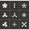 black fans and propellers icon set vector image vector image
