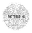 Bodybuilder Conceptual vector image