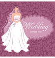 bride with a bouquet vector image vector image