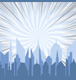 bright comic city silhouette template vector image vector image