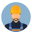 builder in protective clothing and helmet vector image vector image