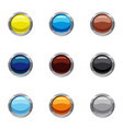 buttons for web icons set cartoon style vector image
