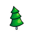 christmas fir trees on white background vector image vector image