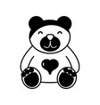 contour nice teddy bear toy to game vector image vector image