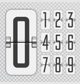 countdown numbers flip counter vector image vector image