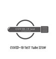 covid-19 test tube blood testing for diagnosis vector image vector image