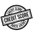 Credit Score rubber stamp vector image