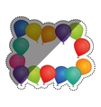 Decorative Birthday balloons vector image vector image